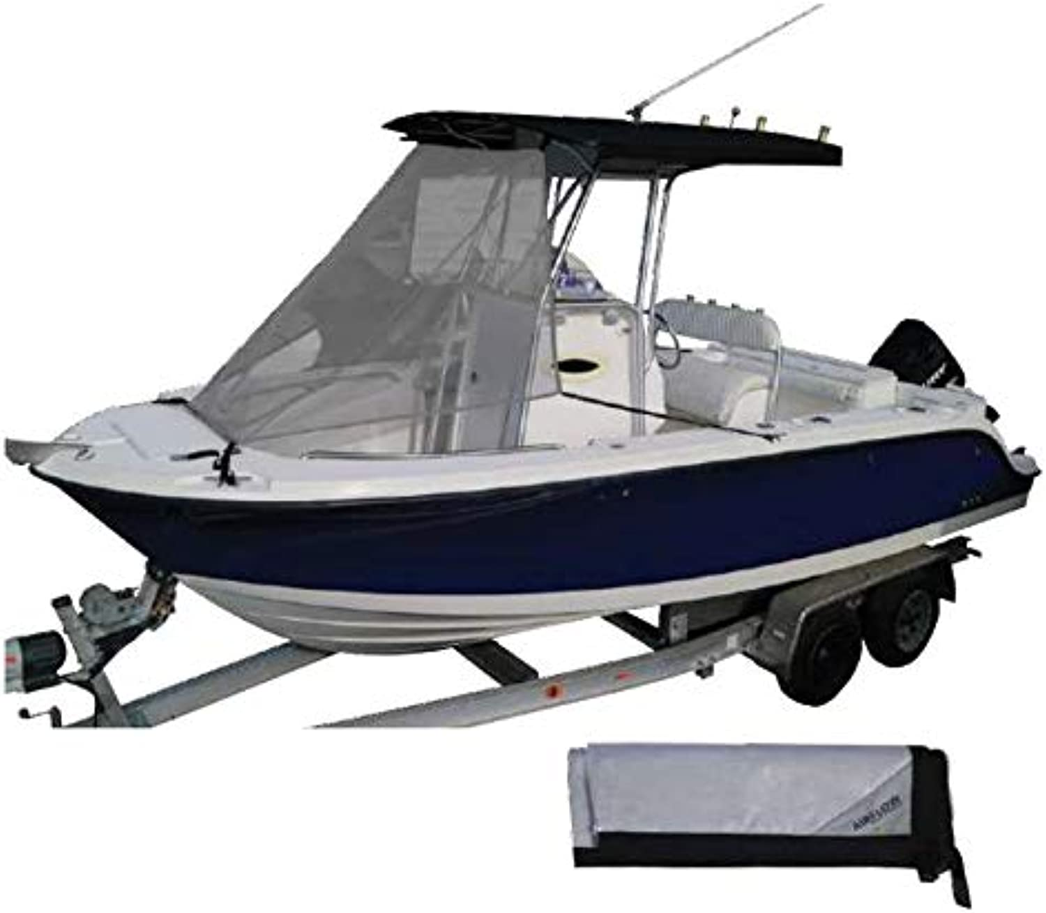 Oceansouth Boat Airflow TTop Cabin Boat Extension Bow Shade 4 Sizes