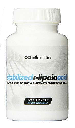 Stabilized R Lipoic Acid - Bioenhanced Na-R-ALA [100 mg, 60 Vegetarian Caps] - Increase glutathione (Liver Health), Insulin Sensitivity & Diabetes (Promotes Healthy Blood Sugar)