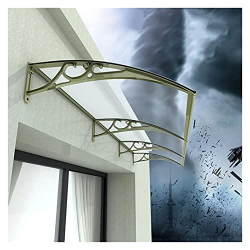 Marquesina para Puertas Y Ventanas, Tejadillo De Protección Cubierta De Lluvia Delantera del Porche Diseño De Arco Mecánico Soporte De Aleación De Aluminio Fuerte Capacidad De Carga MAHFEI