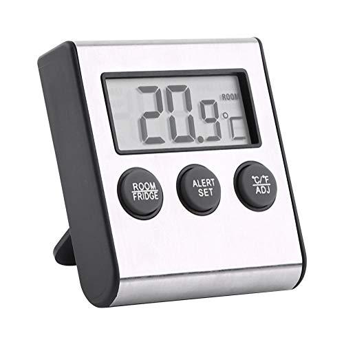VBestlife Digitale diepvrieskist, thermometer, draadloze koelruimte-thermometer en binnentemperatuurmonitor, max/min-opnamefunctie met groot lcd-display voor koelkast/vrieskast/binnenruimte.