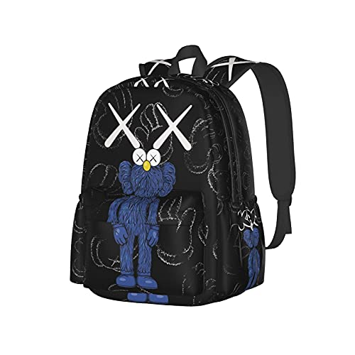 Mochila escolar unisex con impresión 3d K_Ows divertida mochila de senderismo de viaje para portátil