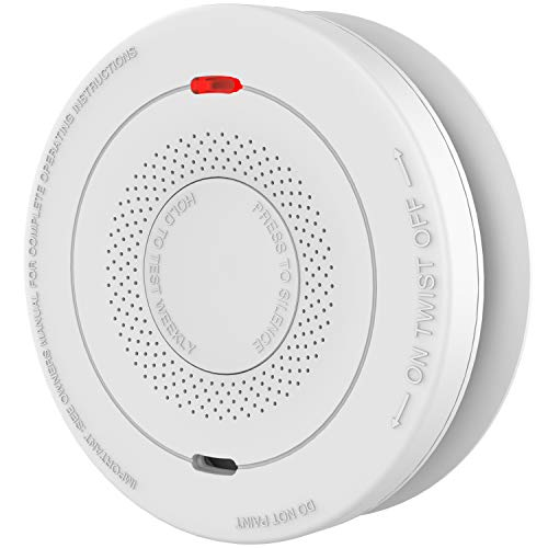 Smoke and Carbon Monoxide Detector Alarm(10-Year Battery Not Hardwired),MOSUO Fire Alarms Smoke Detectors,Dual Sensor Smoke CO Alarm Complies with UL 217 & UL 2034 Standards