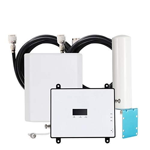 EMEBAY Amplificadores de Señal Móvil 4G/3G/2G gsm LTE, Tri-Banda Repetidores de señal 900/2100/1800MHz para Obtenga Llamadas Señal en Su Coche Autobús Barco Casa Oficina