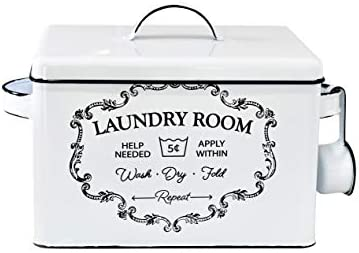 NINE ROYAL Laundry Detergent Container Decorative Storage Box for Laundry Room Farmhouse Laundry product image