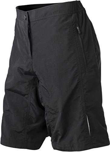 James & Nicholson Mulitfunktionelle Bike-Shorts (S, Black)