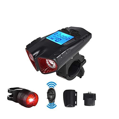 Daniel Fahrradlichtset, Frontlicht-Rücklichtkombinationen, Vier Beleuchtungsmodi, USB Wiederaufladbar, Super Helles Fahrradlicht,1