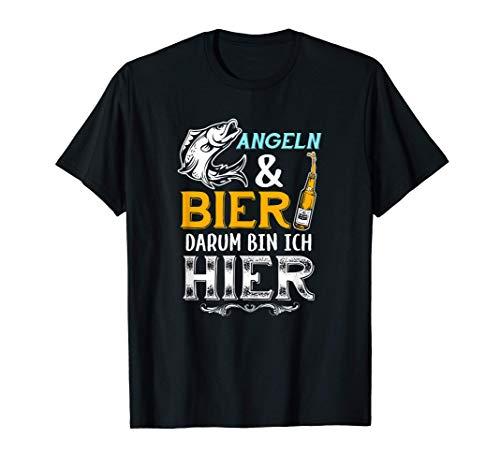 Angeln Und Bier Angler Fischen Fischerei Angelhaken Geschenk T-Shirt