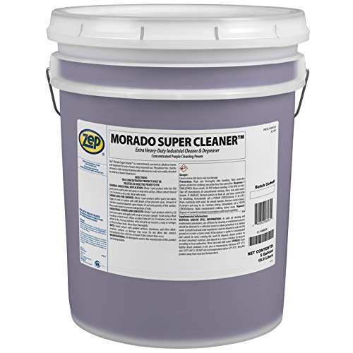 Zep Morado Concentrated Super Cleaner 5 Gallon 85635(1 Pail) Industrial Degreaser-This Product is for Business Customers Only