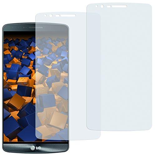 mumbi Schutzfolie kompatibel mit LG G3 Folie klar, Bildschirmschutzfolie (2X)