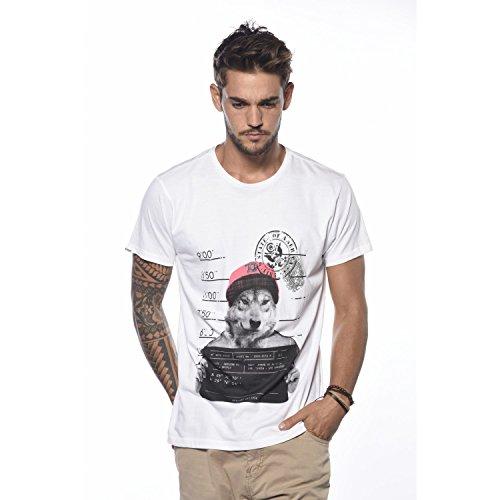 Deeluxe Thisboy T-Shirt, Bianco (White), M Uomo