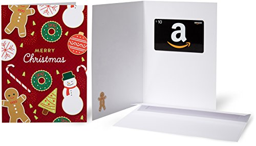 Amazon.com $10 Gift Card in a Greeting Card (Christmas Cookies)