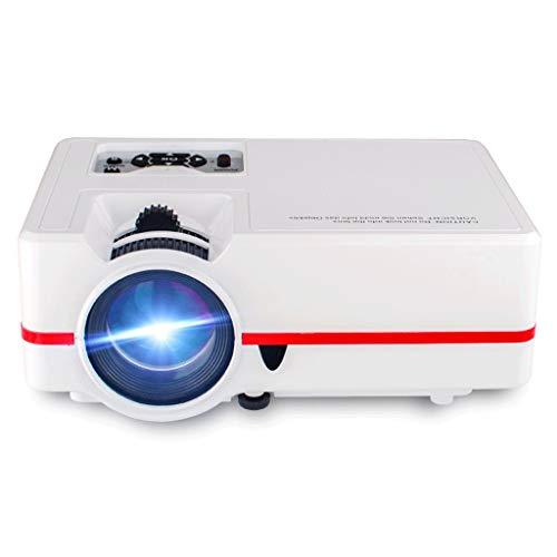 Proyector Wi-Fi mini proyector, proyector portable for el cine al aire libre, al aire libre 1080P Apoyado proyectores de película for su iPhone y ordenadores portátiles PC de Windows Mini proyector