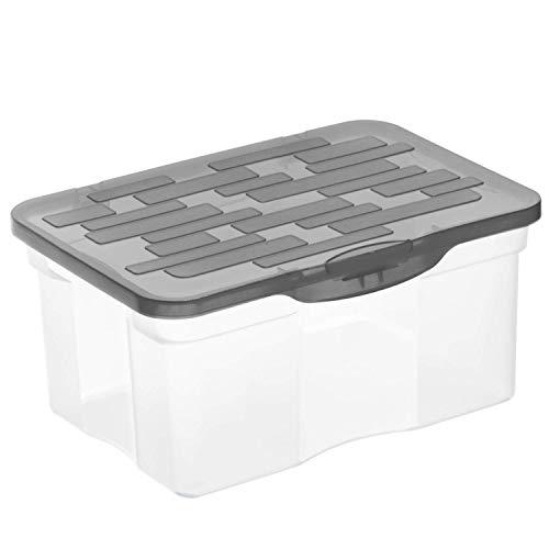 Rotho Ranger Aufbewahrungsbox 4,2l mit Deckel, Kunststoff (PP) BPA-frei, anthrazit, A5/4,2l (26,5 x 19,0 x 12,5 cm)