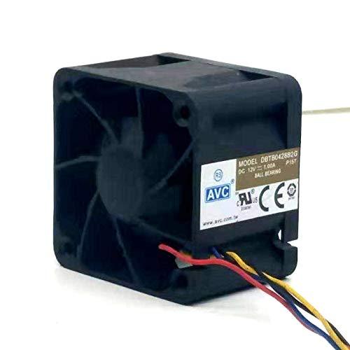 YUXIwang Mini ventilador USB de 40 mm potente ventilador de refrigeración para AVC 4028 12V 1A DBTB0428B2G de alta velocidad 40 x 40 x 28 mm rodamientos de bolas duales de 4 hilos PWM de 4 hilos