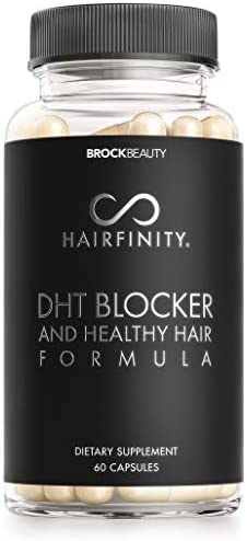 Hairfinity DHT Blocker and Healthy Hair Formula Growth Supplement with Saw Palmetto Biotin and product image