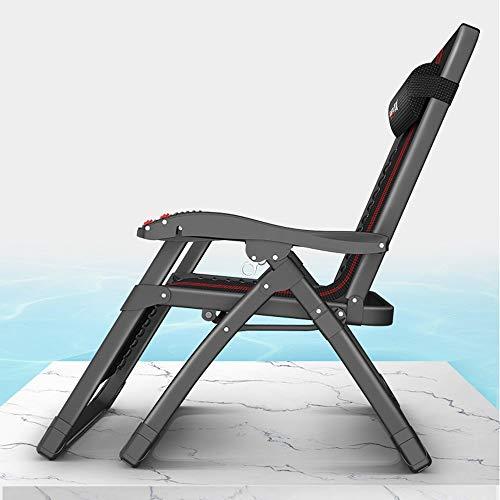 YLCJ Koop loungestoel- Opvouwbare loungestoel Lunchpauze Kantoorpauze Multifunctioneel bed Luie strandstoel Eenvoudige stoel Draagbare Siesta-stoel Verstelbare draagbare klapstoel