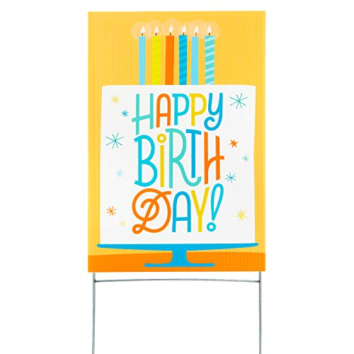 Hallmark Birthday Yard Card, Birthday Cake (Yard Sign with Stake) (1499RZT9900)