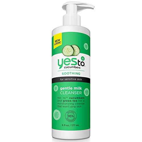 Yes To Cucumbers Soothing Gentle Milk Face Cleanser for Sensitive Skin, 6 Fluid Ounce (boi-opp-klo-uyi4218)