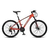 Bicicletas de Montaña, Bicicletas de Carretera, Ruedas de 26 Pulgadas, Bicicletas de Carreras para Adultos de Velocidad Variable, Bicicletas MecáNicas con Freno de Doble Disco/D/Como se