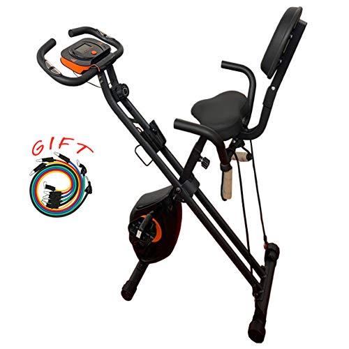 YQYJX Bicicleta Estática Controlada Magnéticamente, Silenciosa, Ajuste De Resistencia De 8 Velocidades, Monitoreo del Ejercicio, con Cordón, Adecuada para Entusiastas del Ejercicio