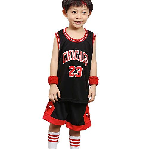 Completo maglia da basket per ragazzi Bulls # 23 Jordan, per bambini Michael Jordan 23# Chicago Bulls Summer Basket Training Training Vest e pantalonc