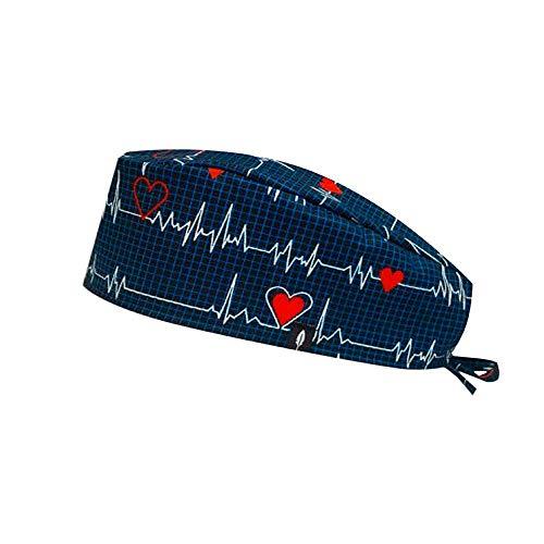 ROBIN HAT - Cuffie da sala Operatoria ELECTROCARDIOGRAMA - CAPELLI CORTI - 100% cotone (Autoclave) - Massima comodità