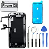 Full Screen Replacement 3D Touch Assembly with Pre-Installed Ear Speaker and Proximity Sensor with Frame Adhesive and Repair Tools for iPhone Xs 5.8 inch