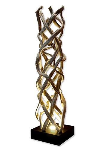 Treibholz Stehlampe LANAI - 120cm Stehleuchte aus Schwemmholz / Lianen Holz mit LED-Spot, geeignet für Wohnzimmer, Flur, Schlafzimmer oder Wintergarten [EEK A+]