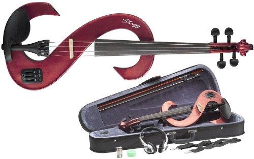 STAGG ELEKTRISCHE GEIGE SET 4/4 - ROT Geigen E-Geigen