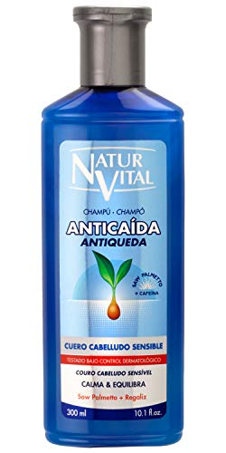 NaturVital Champú Anticaída Cuero Cabelludo Sensible 300 ml