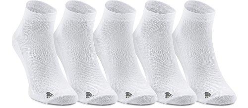 Ladeheid Unisex 5 Pack Socken aus Baumwolle LASS0002 (Weiß, 38-40)