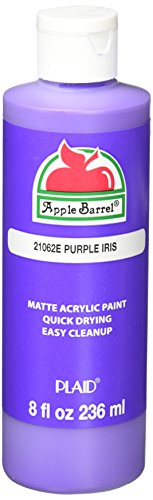 Apple Barrel Acrylic Paint in Assorted Colors (8 Ounce), Purple Iris