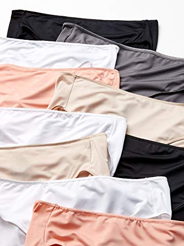 Hanes Women's Cool Comfort Microfiber Panties-Boyshorts, Briefs, or Hipster Fit Available, Hipster-10 Pack-Assorted, 7 Connecticut