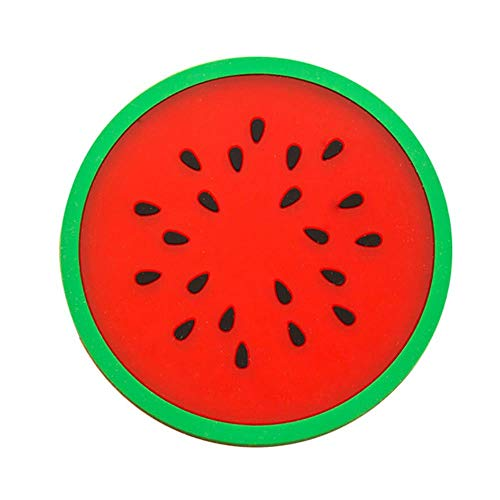 Moderne mode Fruit Coaster kleurrijke siliconen beker dranken houder Mat servies Placemat, watermeloen, China