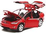 Baibao Modello pressofuso Modello di Auto in Lega ModelX Fuoristrada SUV 01:32 Dimensioni: 15.5x5.5x4.5CM (Colore: Rosso) (Color : Red)