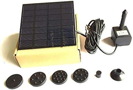 A Aire Libre Riego Bomba Sumergible C/írculo para Jard/ín Estanque Piscina Everpert Bomba de Fuente Solar Bomba de Agua Solar
