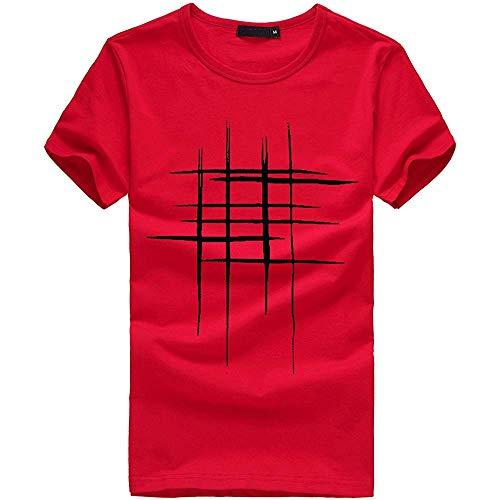 Blouse met korte mouwen, mannen afdrukken Tees korte mouwen T Shirt Performance Shirt
