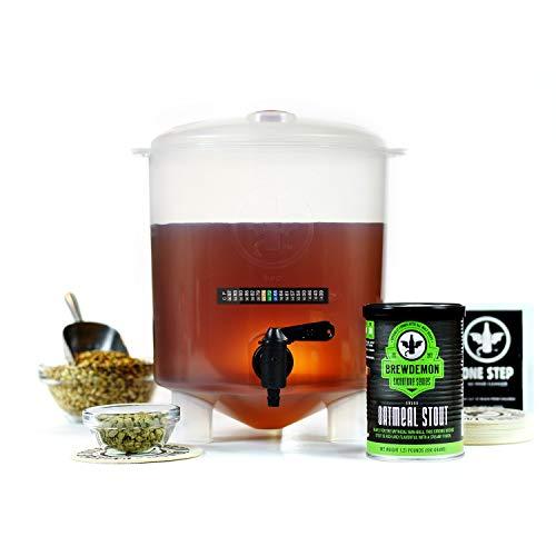 Kit para Hacer Cerveza Artesana | 4 litros | Sabor Exclusivo Shedu Oatmeal Stout | Producto de USA con Fermentador Cónico…