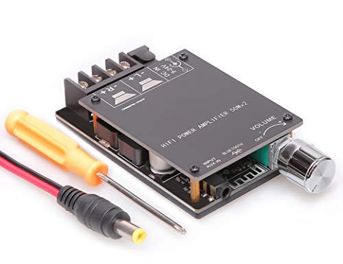 Scheda amplificatore Bluetooth 5.0, scheda amplificatore audio 100w Dual Channel DC8-24V, installazione facile e connessione senza password al telefono silenziosamente