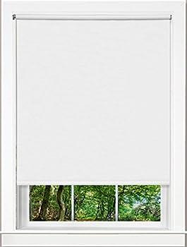 Designer Home Room Darkening Cordless Blackout Window Roller Shades  37  Width