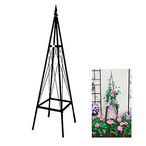 HLLZRY Garden Obelisk Metal Trellis Flower Support for Climbing Vines and Plants,Garden Plant Flower Vine Rack Climbing Planter Trellis Support Bracket Garden Supplies