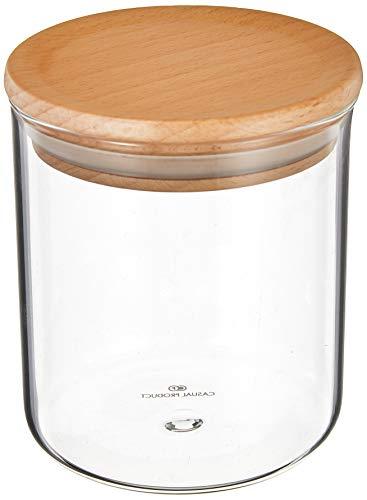 CASUAL PRODUCT スタンダードガラスキャニスター ウッドリッド 400ml 576898 耐熱ガラス