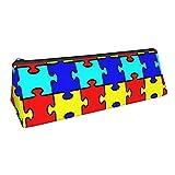 Triángulo Lápiz Estuche Jigsaw Puzzle Toy Cremallera de gran capacidad Estuche para lápices Bolsa Bolsa de papelería para estudiantes Bolsa de cosméticos