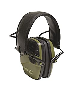 Howard Leight by Honeywell Impact Sport Sound Amplification Electronic Shooting Earmuff, Classic Green (R-01526) (B001T7QJ9O) | Amazon price tracker / tracking, Amazon price history charts, Amazon price watches, Amazon price drop alerts