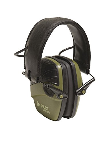 Howard Leight by Honeywell Impact Sport Sound Amplification Electronic Shooting Earmuff, Green