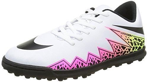 Nike Jr Hypervenom Phade II TF, Scarpe da Calcio Unisex-Bambini, Bianco, Nero, Arancione (Total Orange), Giallo (Volt), 36.5 EU