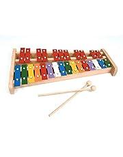 Xilófono soprano profesional de madera de tamaño completo colorido Glockenspiel con 27 llaves de metal para adultos y niños