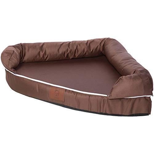 Bunty Cozy Eckcouch Hund Haustier Bett Waschbar Weicher Schaumstoff Matratze Korb Sofa Pad Matte – Braun – Medium