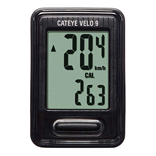 CATEYE Velo 9 Wired Bike Computer, Black