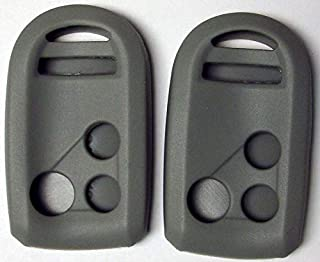 Pair of Gray Silicone Rubber Key Fob Covers Fits Honda Goldwing Motorcycle Remote 2012 2013 2014